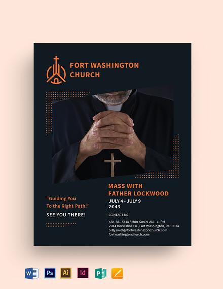 Hope Sermon Church Flyer Template
