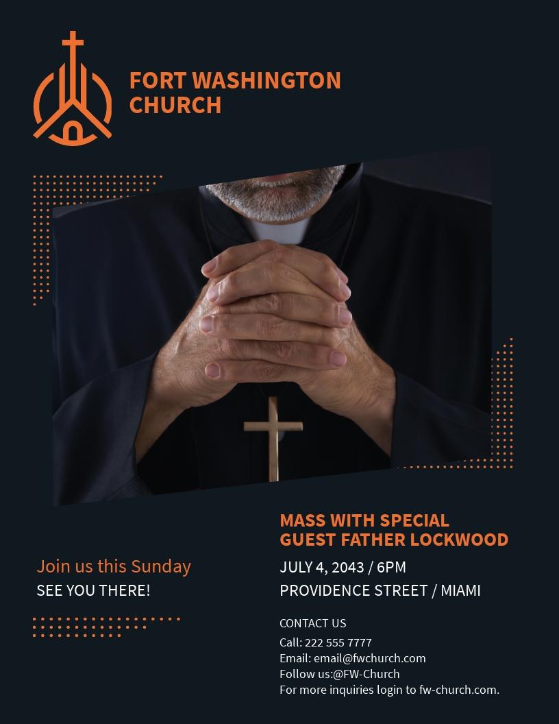 Hope Sermon Church Flyer Template.jpe