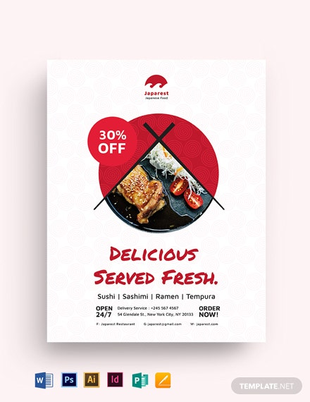Japanese Food Flyer Template