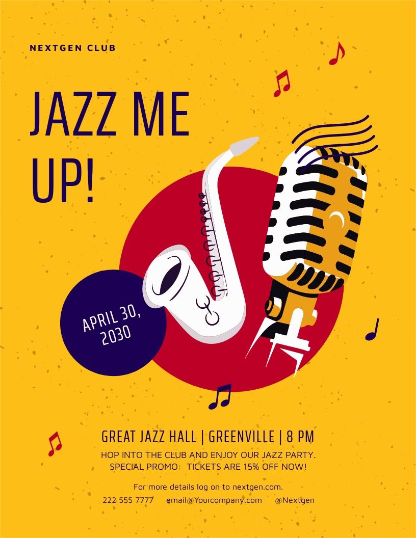 Jazz Event Flyer Template.jpe