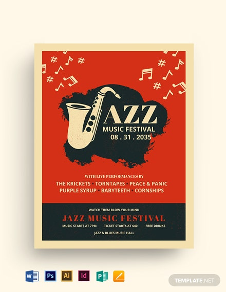 Jazz Music Festival Flyer Template