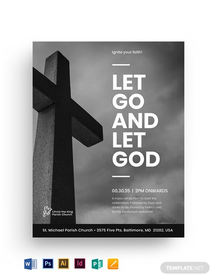 Jesus Church Flyer Template