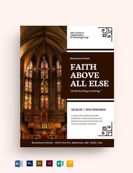 Jesus City Church Flyer Template