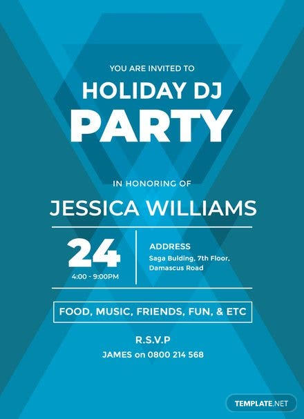 Free DJ Party Invitation Template