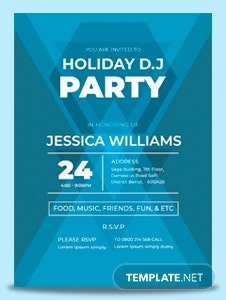 Free DJ Party Invitation Template