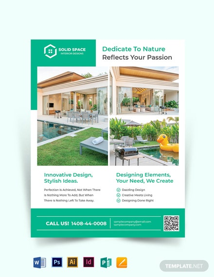 Landscape Interior Design Flyer Template