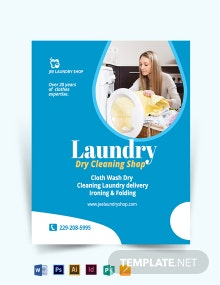 Laundry Dry Cleaner Flyer Template