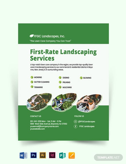 Lawn Landscaping Flyer Template
