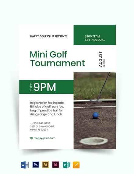 Mini Golf Flyer Template