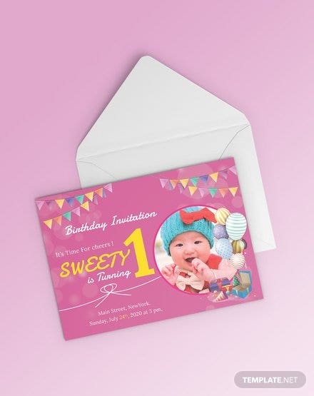 Free 1st Birthday Invitation Template