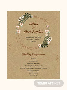 Rustic Wedding Program Template