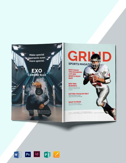 Modern Sports Magazine Template