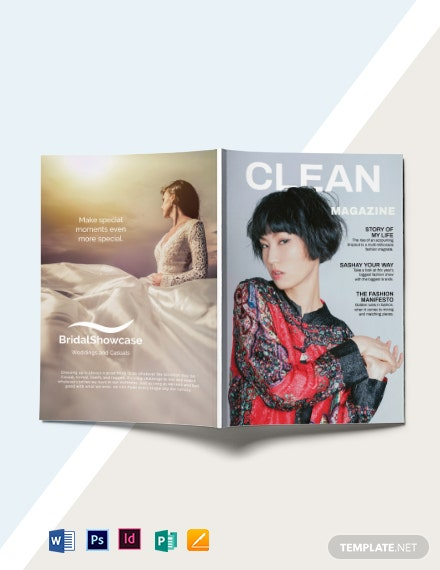 minimalist fashion magazine template