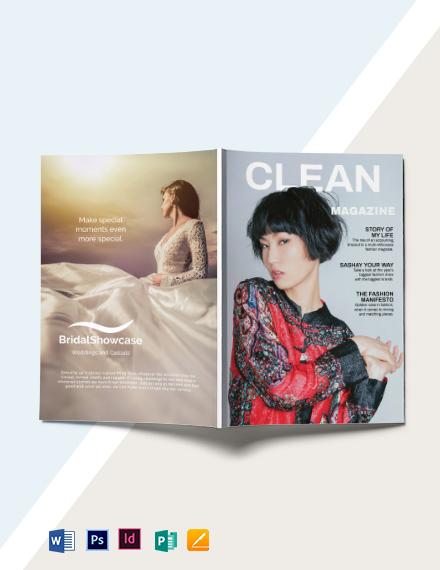 Minimalist Fashion Magazine Template