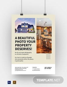 Real Estate Photography Poster Template