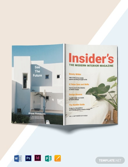 Modern Interior Magazine Template