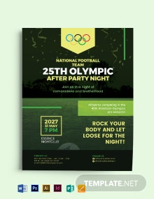 Olympic After Party Flyer Template