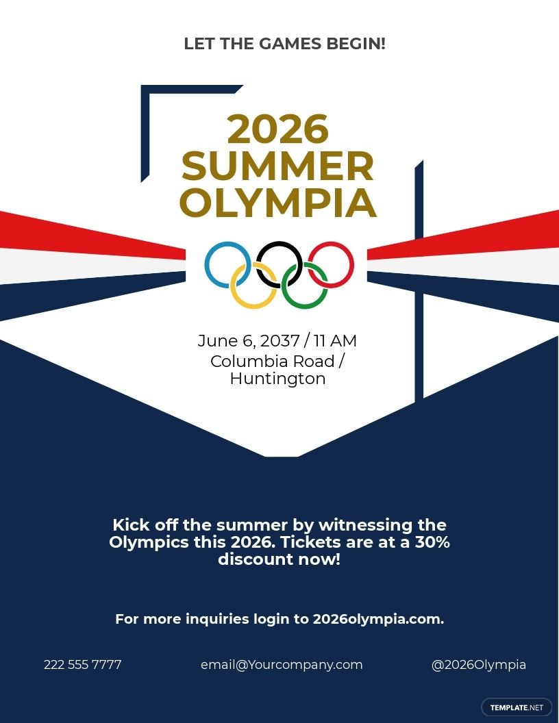 Olympic Party Flyer Template