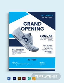 Opening Shop Flyer Template