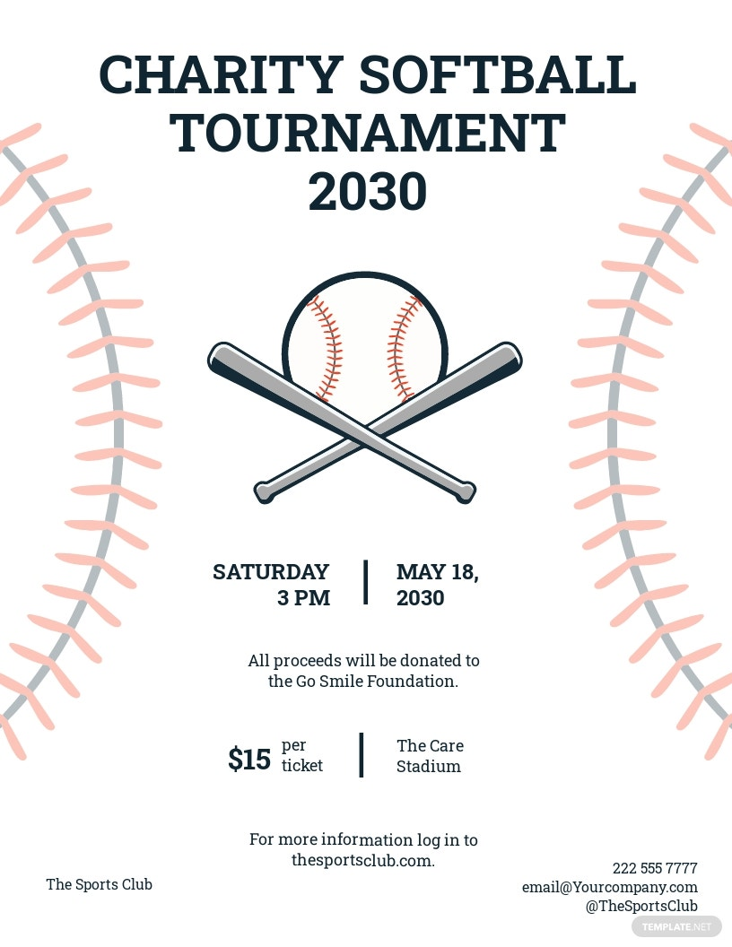 Softball Tournament Flyer Template