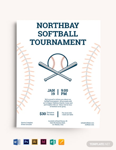 softball tournament flyer template  download 1 1086