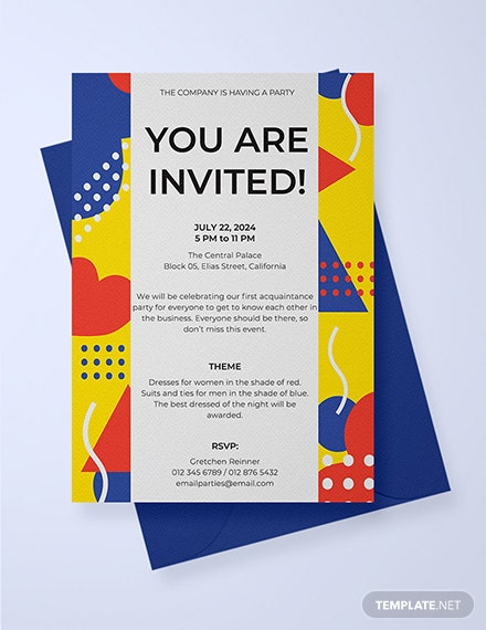 Free Email Party Invitation Template