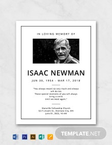 Free Simple Funeral Program Template