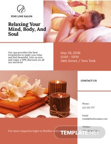 Spa Beauty Treatment Flyer Template