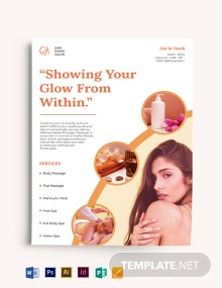 Spa Skin Rejuvenation Flyer Template