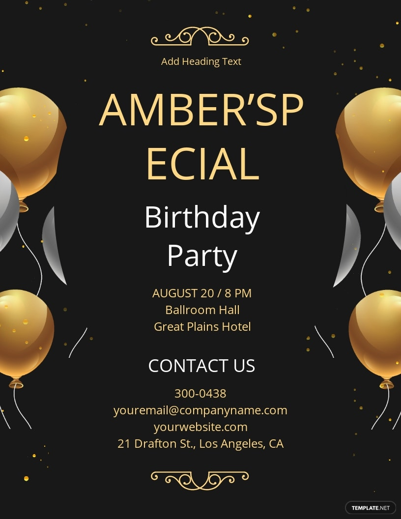 Special My Birthday Flyer Template [Free JPG] - Illustrator, InDesign, Word, Apple Pages, PSD, Publisher