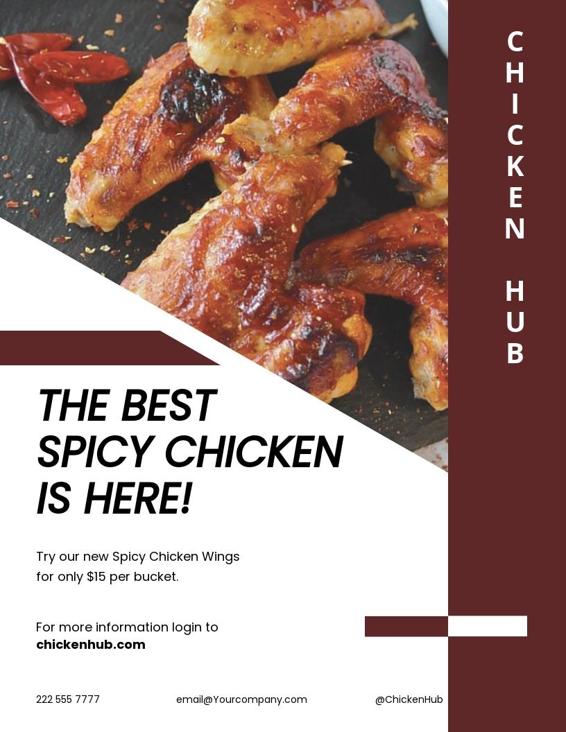 Spicy Chicken Restaurant Flyer Template