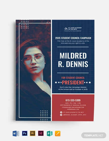 Student Campaign Flyer Template