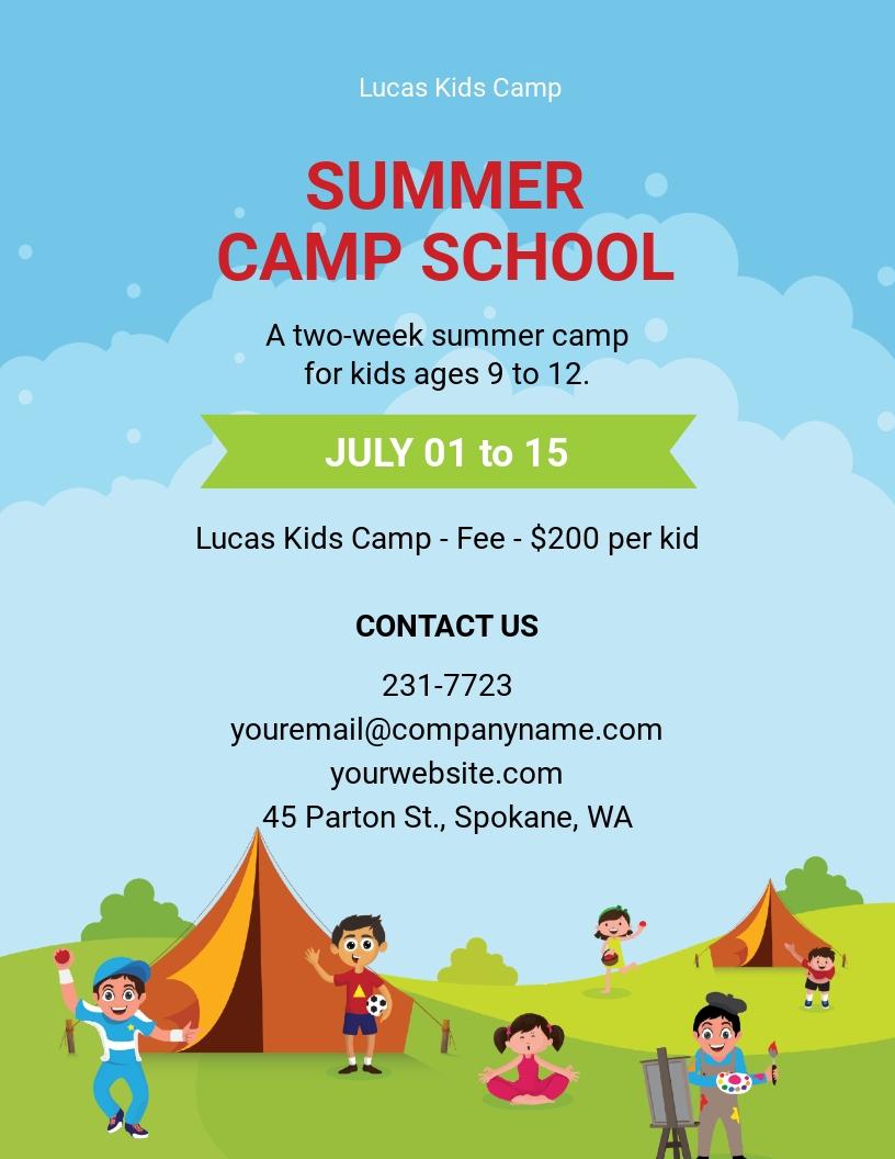 Summer Camp School Admission Flyer Template.jpe