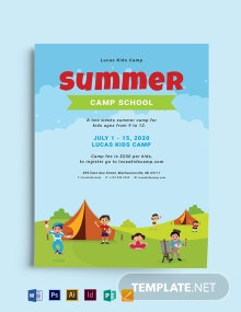 Summer Camp School Admission Flyer Template