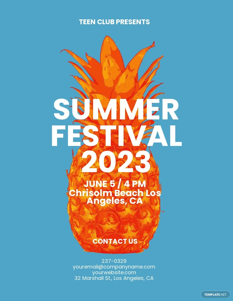 Summer Fest Flyer Template