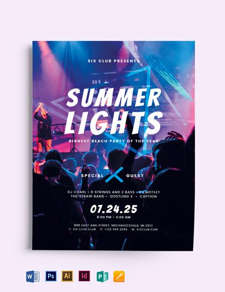 Summer Lights Flyer Template