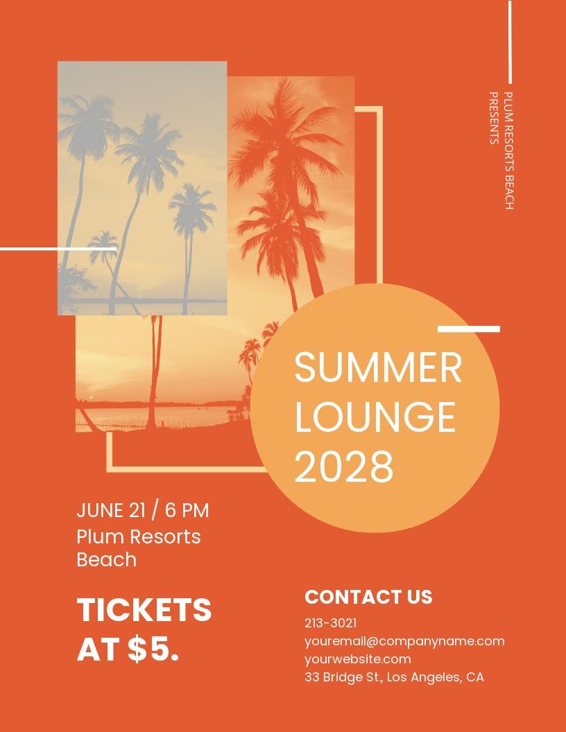 Summer Lounge Flyer Template