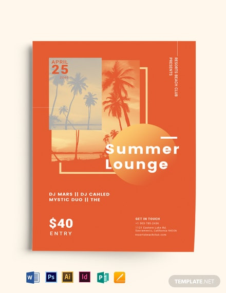 Summer Lounge Flyer Template