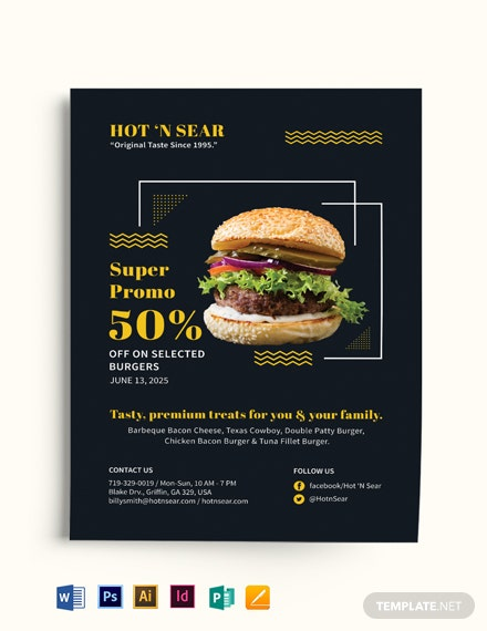 Super Burger Flyer Template