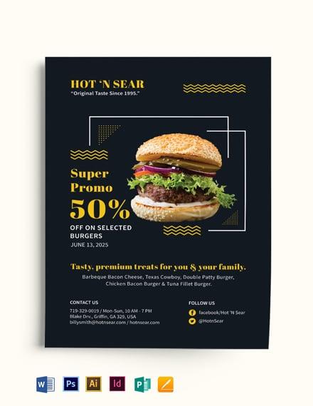 Super Burger Flyer Template