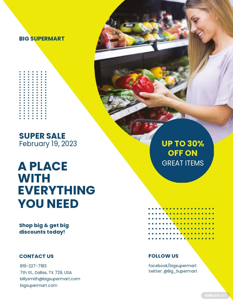 Supermarket Promotion Flyer Template