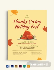 Thanks Giving Holiday Flyer Template
