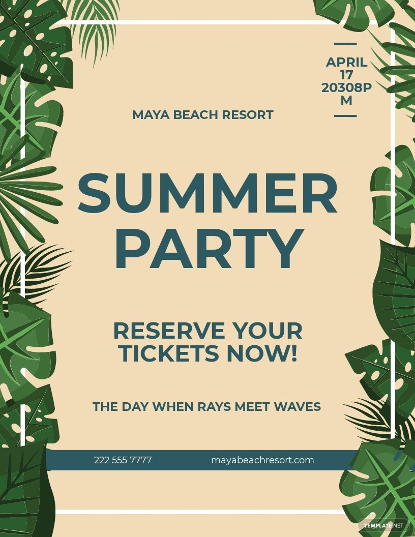 Tropical Party Flyer Template.jpe