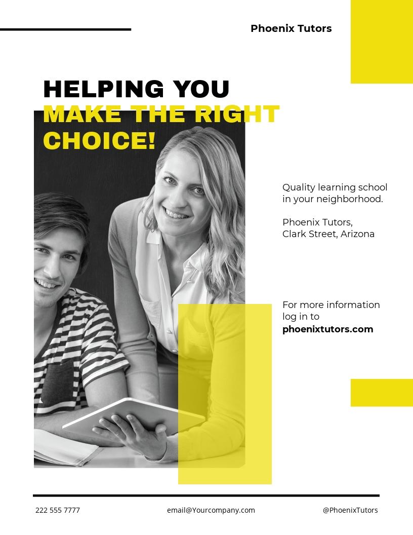 Tutoring School Flyer Template