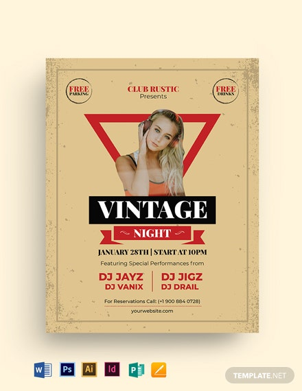 Unique Vintage Flyer Template