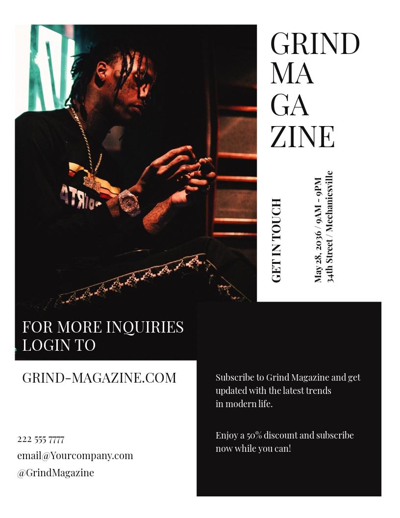 Urbanit Modern Magazine Flyer Template