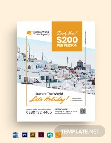 Vacation Travel Agency Flyer Template