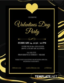 Valentines Day Classy Flyer Template