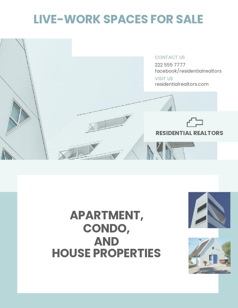 Residential Real Estate Broker Flyer Template