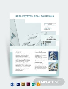 Residential Real Estate Broker Flyer Template